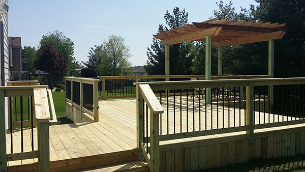 Build a treated deck in Bartlett today
